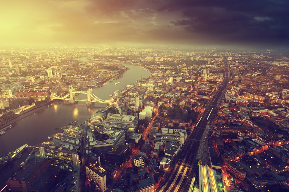 London aerial view with  Tower Bridge in sunset time.jpeg